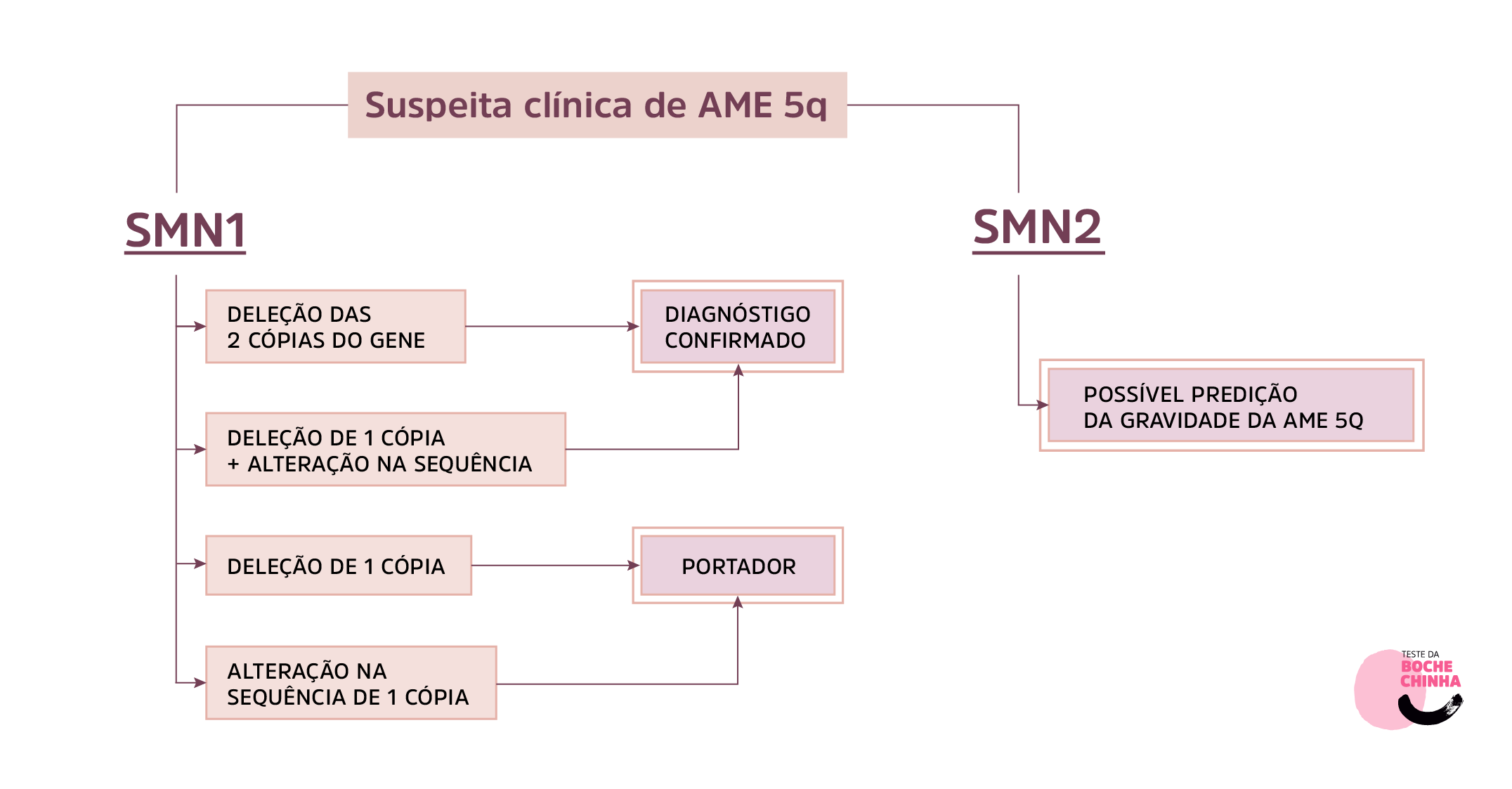 Figura 5. Diagnóstico genético de pacientes com suspeita clínica de AME 5q.